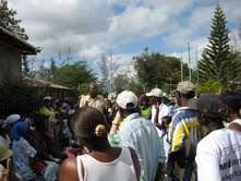 Members at an emergency meeting post-quake