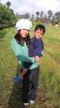 Badi Ram with his big sister Srijana