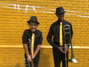 New Orleans Second Line Band Trombones