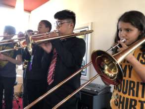 Our fantastic trombone players