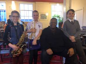 Some of our musicians with Julian Joseph
