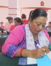 Sushma during capacity building