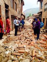 Earthquake devastation in Khokana, Lalitpur