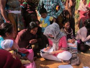 Relief Support in Buntang, Nuwakot