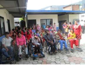 Participants from Dharmasthali for the training