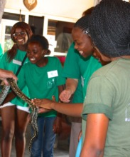 A special treat! Touching a python