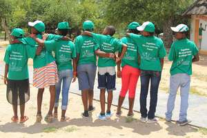 The Children wearing their DAKTARI Tshirts!