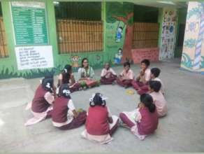 Students in a Socio-emotional learning circle