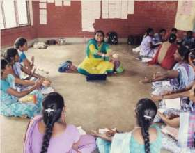 Training teachers at Cuddalore- Kannarpet, ASSEFA