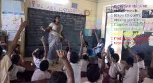 Ajitha teaching her students