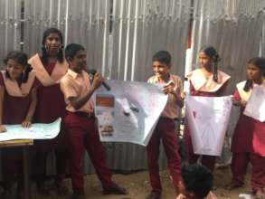 Students at a school presentation