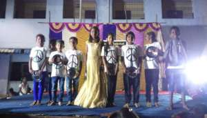 Students Performing dance at Annual Day