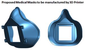 Proposed Medical Masks manufactured by 3D Printer