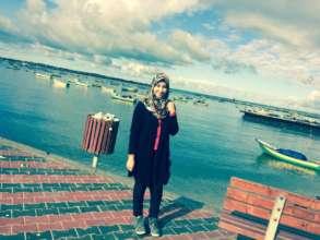 Dalia near the sea in Gaza