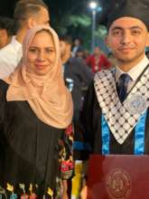 Omar graduated with a degree in medicine!