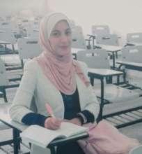 Salsabil at her university in Gaza