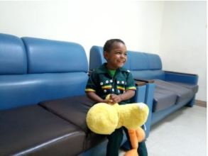 Ezana playing before surgery