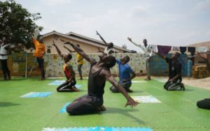 Rehearsals for the Ubumuntu Arts Festival