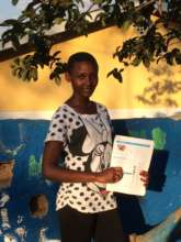 Divine with her ICDL coursework