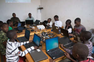 Tuesday's IT Class with Street Youth in Kigali