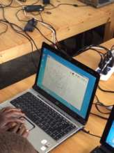 Working with donated laptops from the USA