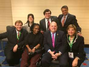 Gov. Larry Hogan at NGA Conference with our team