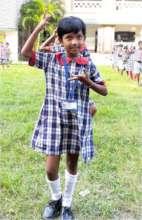 Shruti at dance class in the school