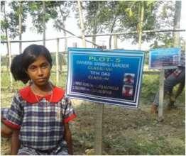 Sinjini at making of her Plot in School Garden