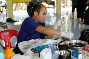 Piau, our Thai Vet in Surgery