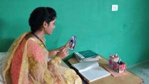 Educators interacting through Whatsapp