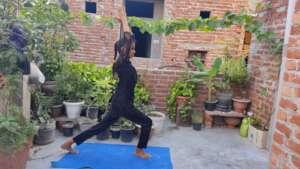 Girl performing Yogasana