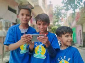 Children supported with online classes