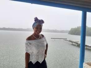 Karen on a rainy day in Baru