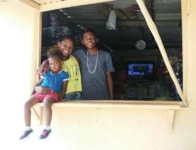 Oneida with her children