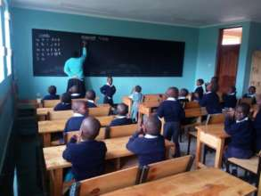 The new classroom in use