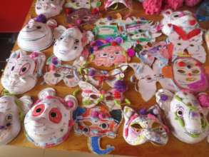 Self-made Masks for the Children's Dance