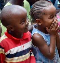 Smiling Nursery School Children