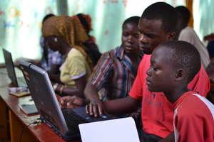 Solar Computer Lab at Jinga Community Center