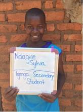 Sylivia, a S.O.U.L. sponsored student!