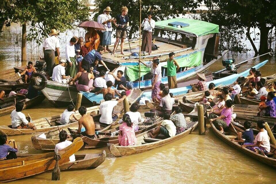 Flood relief for displaced communities in Myanmar