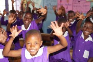 Nyaka Primary School Students in Class