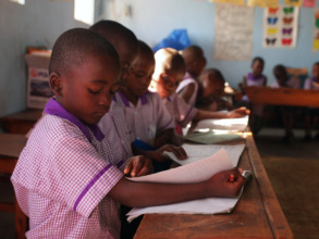 Nyaka Primary School Nursery Students in Class