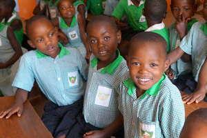 Students at Kutamba Primary School