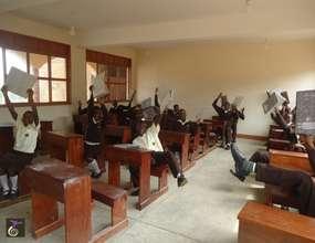 Nyaka Vocational Secondary School Students Reading