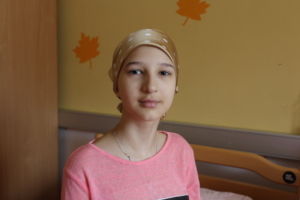Ksenia is working hard to be able to walk again
