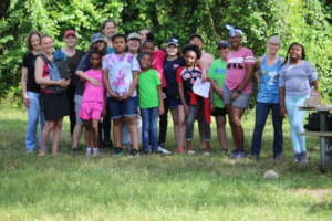 Girl Scouts and Volunteers at Camp Whippoorwill
