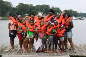 A field trip for a Beyond Bars Girl Scout troop