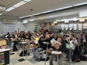 Davis Senior HS students show off their omiyage