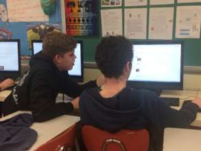 Students working together to post comments