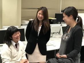 KAC President enjoys a conversation with a student